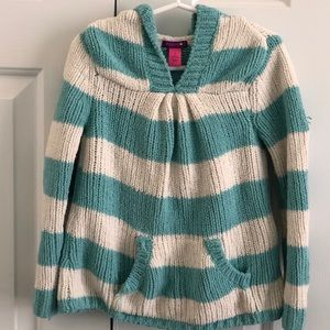 Toddler Baby Blue /White Stripes Pullover Hoodie